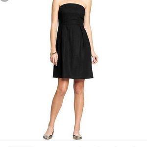 Old Navy strapless little black linen dress